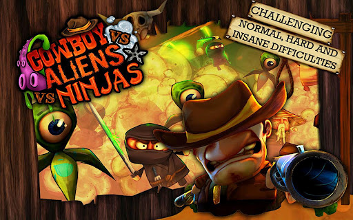 Cowboy vs. Ninjas vs. Aliens