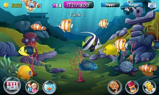Fish adventure android games 365 free android games for Fish aquarium games