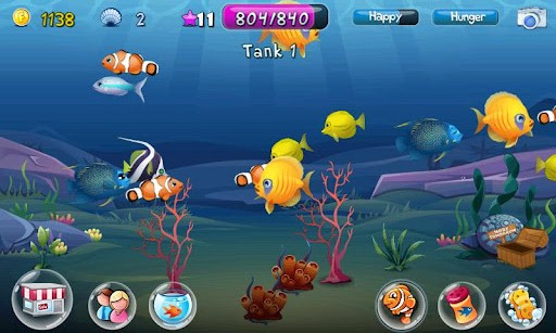 Fish adventure android games 365 free android games for Fishing game android