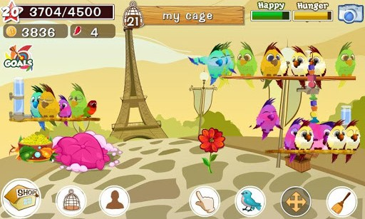 Bird land pet game android games 365 free android for Fish breeding games