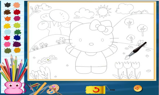 Hello Kitty Color Page Coloring Pages Hello Kitty Friends