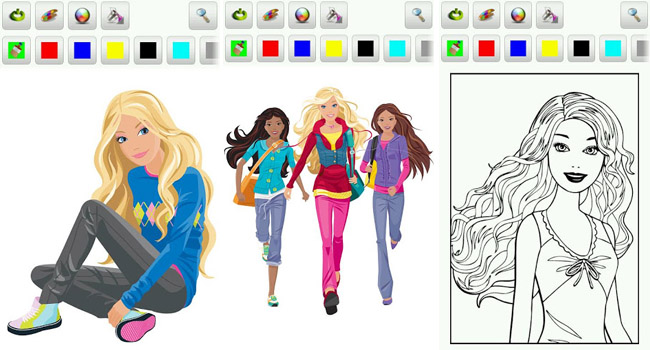Barbie Coloring Pages Android Games 365 Free Android Games