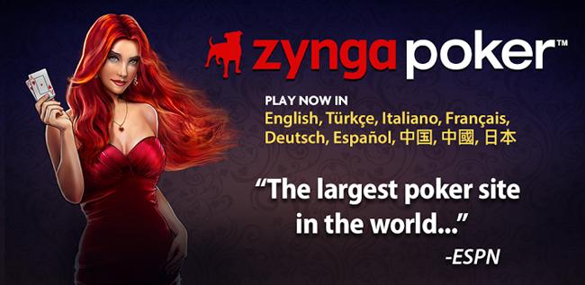 Zynga poker language change