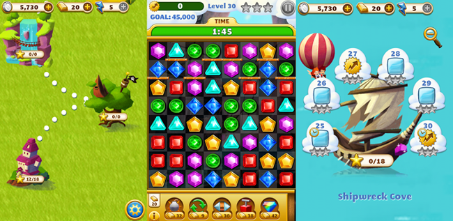 jewel bubbles games