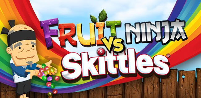 Fruit Ninja vs Skittles