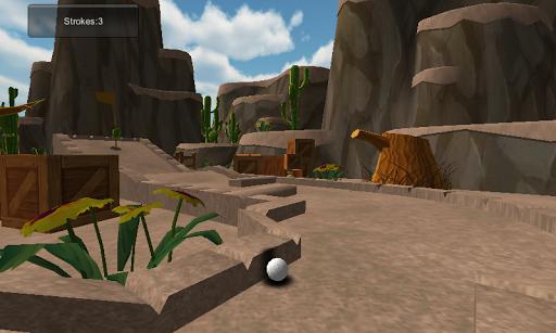 Cartoon desert mini golf 3D