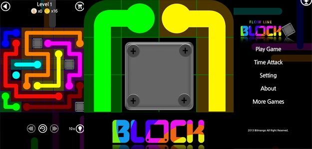 Drawing Lines Game : Flow line block android games free