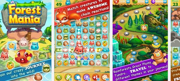 Forest Mania: Match 3 Game