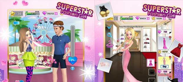 Girls Games Designing Clothes Superstar Fashion Girl
