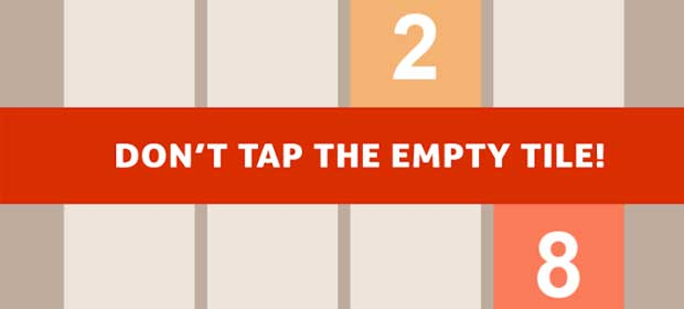 Tap 2048,Don't tap empty tile!