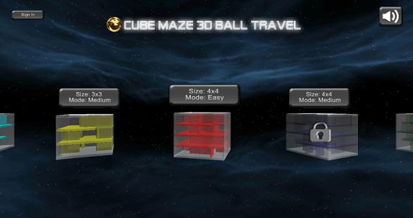 Cube Maze 3D Ball Travel