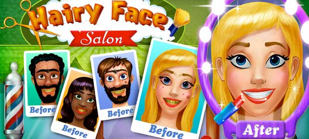 Hairy Face Salon Monster Shave