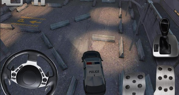 police car parking 3D HD
