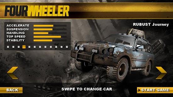 Four Wheeler on Jeep Tracks