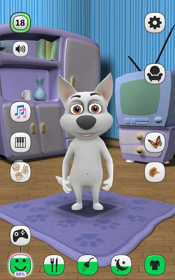 my talking dog virtual pet android games 365   free