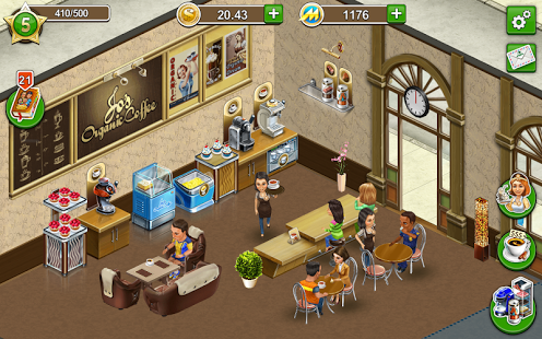 coffee shop cafe business sim android games 365 free android games download. Black Bedroom Furniture Sets. Home Design Ideas