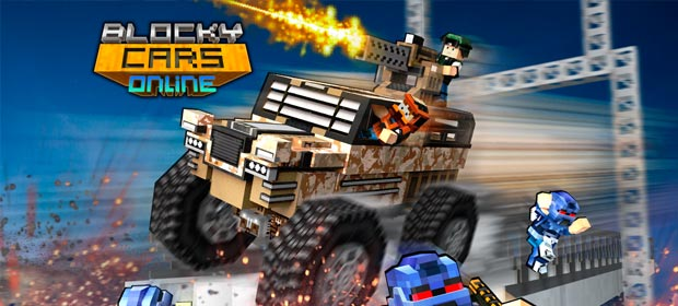 Blocky Cars Online Shooter FPS