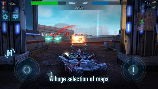 Racing Games For Boys >> Tanks VS Robots » Android Games 365 - Free Android Games Download